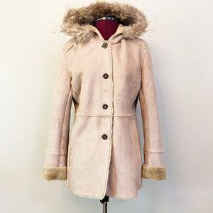 Calvin Klein | Hooded Faux Shearling Walker Jacket